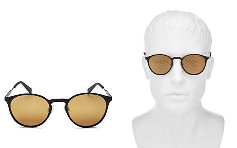 Polaroid Mirrored Round Keyhole Sunglasses, 49mm - Bloomingdale's_2