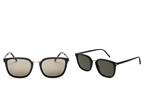 Saint Laurent Classic Square Sunglasses, 51mm - Bloomingdale's_2