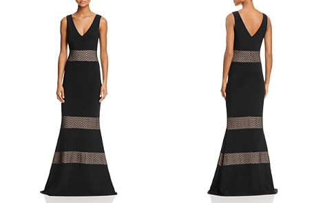 Avery G Netting Inset V-Neck Gown - Bloomingdale's_2