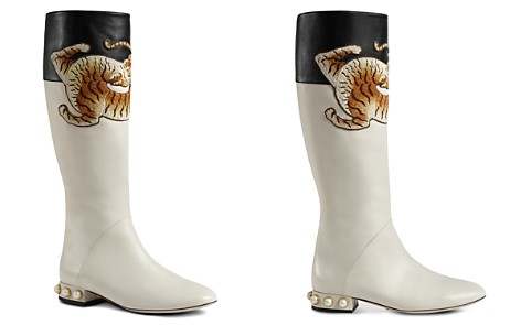 Gucci Women's Embroidered Tall Boots - Bloomingdale's_2