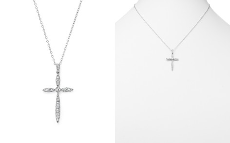 Diamond Cross Pendant Necklace in 14K White Gold, .50 ct. t.w. - 100% Exclusive - Bloomingdale's_2