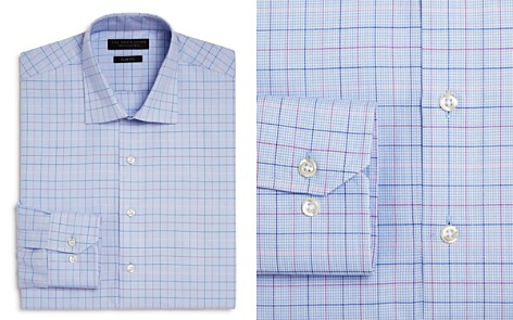 The Men's Store at Bloomingdale's Houndstooth Ground Multi Check Slim Fit Dress Shirt - 100% Exclusive_2