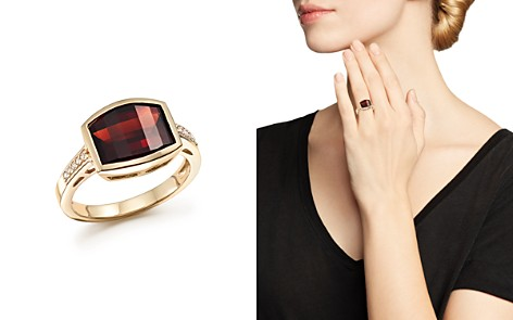 Garnet and Diamond Statement Ring in 14K Yellow Gold - 100% Exclusive - Bloomingdale's_2