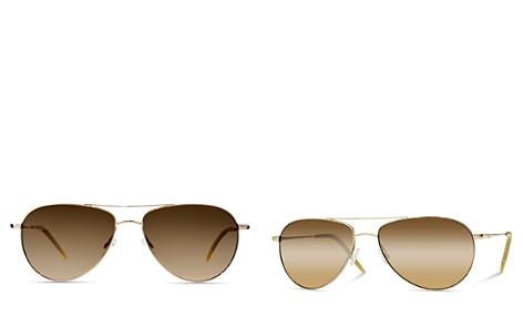Oliver Peoples Unisex Benedict Aviator Sunglasses, 59mm - Bloomingdale's_2