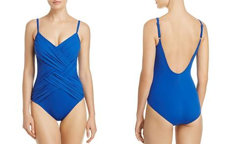 Gottex Lattice V Neck One Piece Swimsuit - Bloomingdale's_2