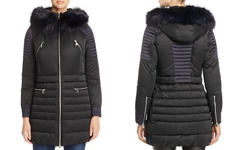 Maximilian Furs Fox Fur Trim Hooded Down Coat - 100% Exclusive - Bloomingdale's_2
