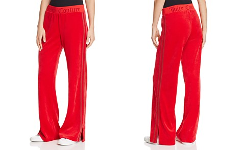 Juicy Couture Black Label Logo Flare Velour Pants - 100% Exclusive - Bloomingdale's_2