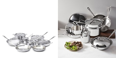 All-Clad Stainless Steel 14-Piece Cookware Set - Bloomingdale's_2
