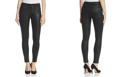Hudson Nico Mid Rise Coated Super Skinny Jeans in Noir - Bloomingdale's_2