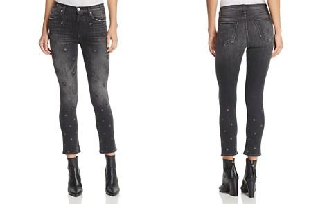 Hudson Harper Star-Embroidered Skinny Jeans in Night Star - Bloomingdale's_2