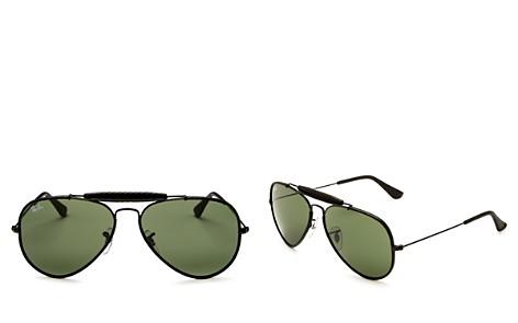 Ray-Ban Unisex Craft Brow Bar Aviator Sunglasses, 58mm - Bloomingdale's_2