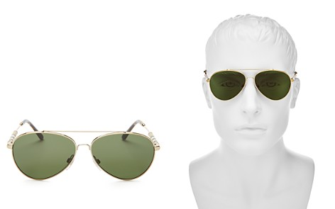 Burberry Polarized Brow Bar Aviator Sunglasses, 57mm - Bloomingdale's_2
