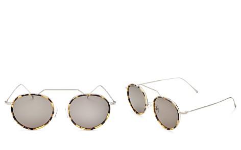 Illesteva Women's Wynwood Ace Brow Bar Round Sunglasses, 51mm - Bloomingdale's_2