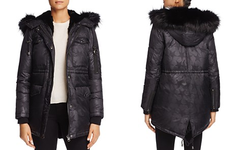 Jocelyn Star Nylon Fur Trim Cargo Down Coat - 100% Exclusive - Bloomingdale's_2