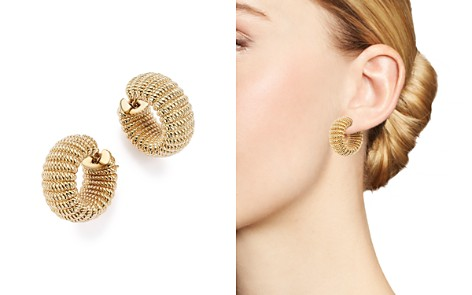 Roberto Coin 18K Yellow Gold Chic and Shine Hoop Earrings - 100% Exclusive - Bloomingdale's_2