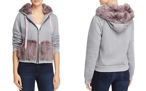 Jocelyn Rabbit Fur Trim Sweatshirt - Bloomingdale's_2