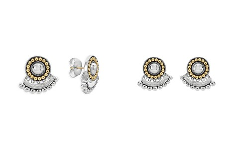 LAGOS 18K Gold and Sterling Silver Signature Caviar Ear Jackets - Bloomingdale's_2