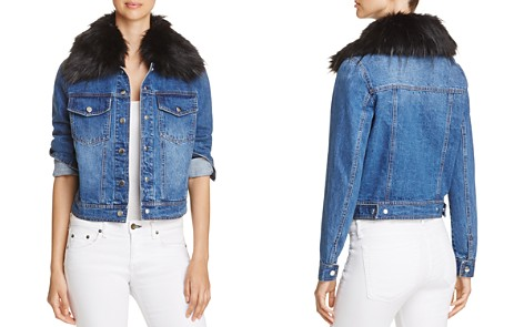 Bagatelle Faux-Fur Collar Denim Jacket - Bloomingdale's_2