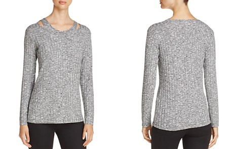 Design History Cutout Shoulder Ribbed Sweater - Bloomingdale's_2