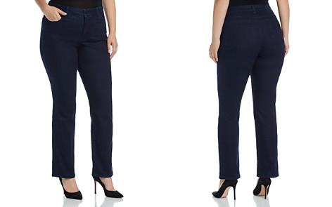 NYDJ Plus Marilyn Straight Leg Jeans in Rinse - Bloomingdale's_2
