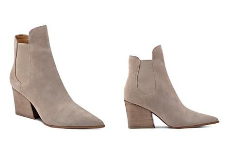 KENDALL and KYLIE Finley Suede Pointed Toe Block Heel Booties - Bloomingdale's_2