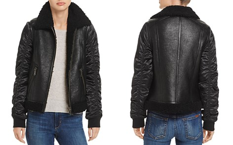 Andrew Marc Tally Shearling Trim Mixed Media Jacket - Bloomingdale's_2