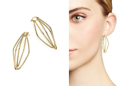 14K Yellow Gold Diamond-Shaped Overlap Earrings - 100% Exclusive - Bloomingdale's_2