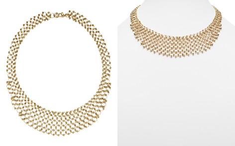 14K Yellow Gold Shimmering Beaded Bib Necklace - 100% Exclusive - Bloomingdale's_2