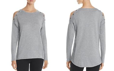 Design History Cold Shoulder Grommet Sweater - Bloomingdale's_2