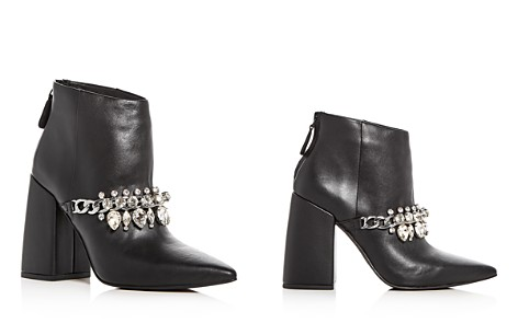 SENSO Women's Zoe Leather High Flared Block Heel Booties - Bloomingdale's_2