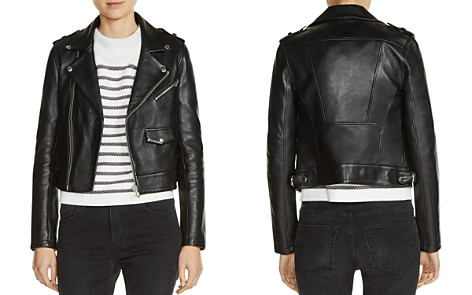 Maje Baltika Leather Biker Jacket - Bloomingdale's_2