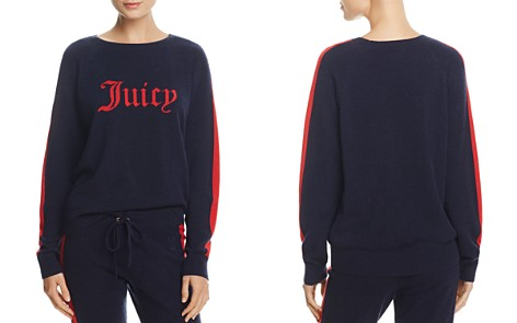 Juicy Couture Black Label Striped-Sleeve Cashmere Sweater - 100% Exclusive - Bloomingdale's_2