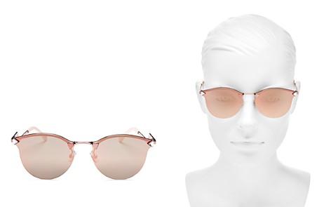 Fendi Women's Mirrored Rimless Cat Eye Sunglasses, 55mm - Bloomingdale's_2