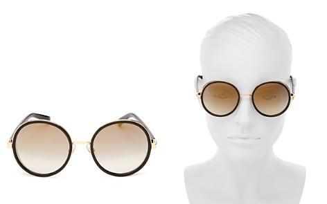 Jimmy Choo Andie Mirrored Round Sunglasses, 54mm - Bloomingdale's_2