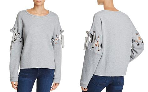 En Créme Lace-Up Sleeve Sweatshirt - Bloomingdale's_2