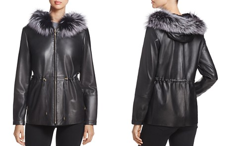 Maximilian Furs Saga Fox Fur-Trim Leather Jacket - 100% Exclusive - Bloomingdale's_2