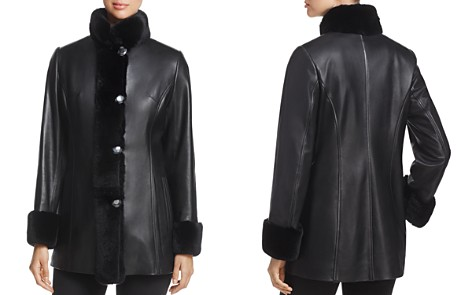 Maximilian Furs Rex Rabbit Fur-Collar Leather Jacket - 100% Exclusive - Bloomingdale's_2