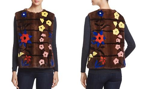 Maximilian Furs Floral Intarsia Kopenhagen Mink Fur Vest - 100% Exclusive - Bloomingdale's_2