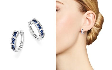 KC Designs 14K White Gold Diamond & Sapphire Huggie Hoop Earrings - Bloomingdale's_2