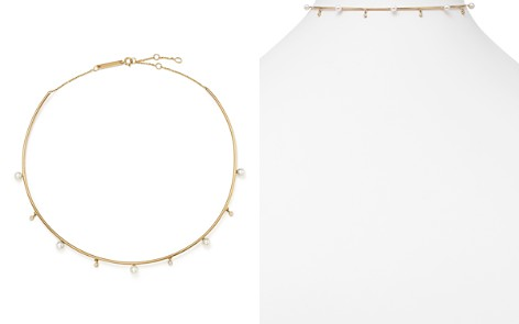 "Zoë Chicco 14K Yellow Gold Cultured Freshwater Pearl & Diamond Wire Choker, 17.5"" - Bloomingdale's_2"