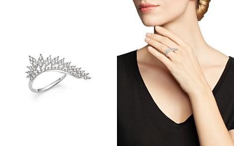 KC Designs 14K White Gold Diamond Wing Statement Ring - Bloomingdale's_2