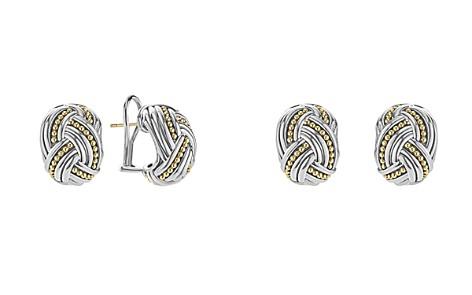 LAGOS 18K Gold & Sterling Silver Torsade Huggie Hoop Earrings - Bloomingdale's_2