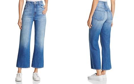 J Brand Joan High-Rise Wide-Leg Crop Jeans in Mimic - Bloomingdale's_2
