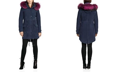 BAGATELLE.CITY Fur Trim Hooded Suede Parka - Bloomingdale's_2
