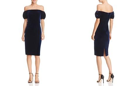 AQUA Off-the-Shoulder Velvet Dress - 100% Exclusive - Bloomingdale's_2