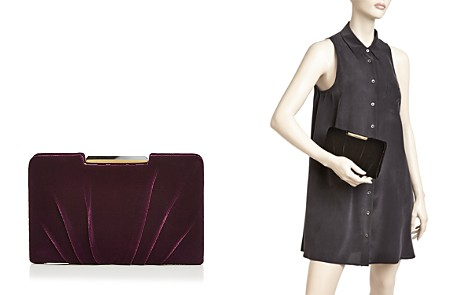 Sondra Roberts Frame Pleated Velvet Clutch - Bloomingdale's_2
