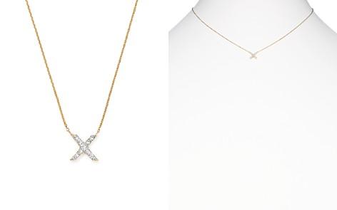 "KC Designs 14K Yellow Gold Diamond X Pendant Necklace, 17"" - Bloomingdale's_2"