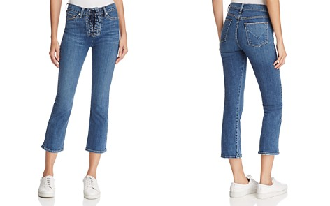 Hudson Brix High-Rise Bootcut Cropped Jeans in Stone Cold - Bloomingdale's_2