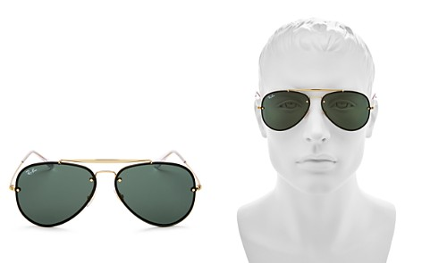 Ray-Ban Unisex Blaze Brow Bar Aviator Sunglasses, 61mm - Bloomingdale's_2
