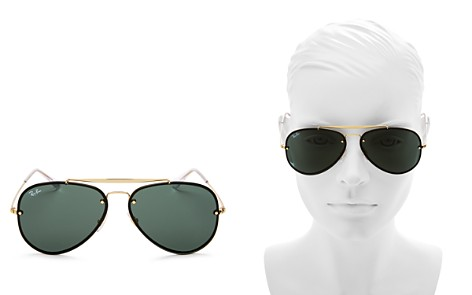 Ray-Ban Blaze Aviator Sunglasses, 61mm - Bloomingdale's_2